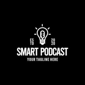 Design de logotipo criativo podcast inteligente