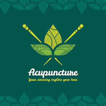 Design de logotipo da acupuntura