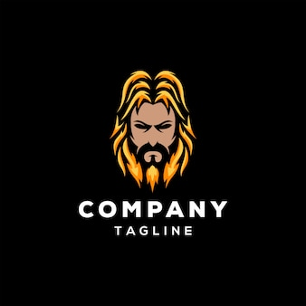 Design de logotipo da barba