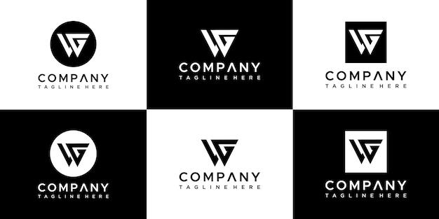 Design de logotipo da coleção de monogramas