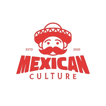 Design de logotipo da cultura mexicana