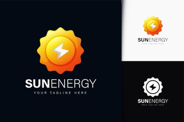 Design de logotipo da energia solar com gradiente