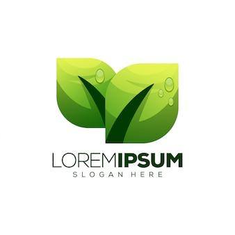 Design de logotipo da folha