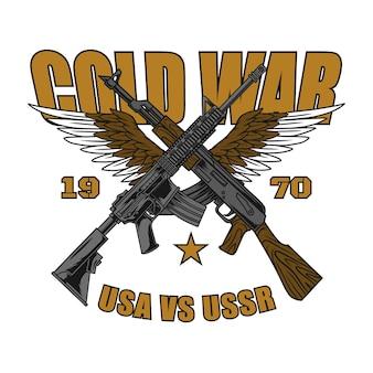Design de logotipo da guerra fria