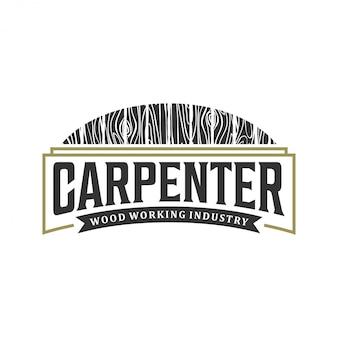Design de logotipo da indústria de carpinteiro