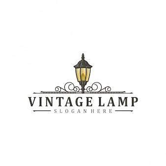 Design de logotipo da lâmpada vintage