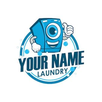 Design de logotipo da lavanderia