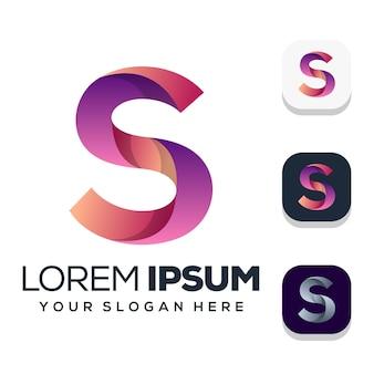 Design de logotipo da letra s isolado no branco