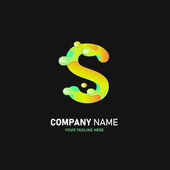 Design de logotipo da letra s, modelo de logotipo colorido