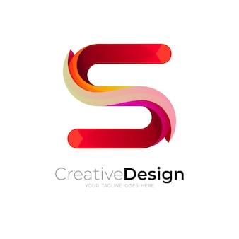 Design de logotipo da letra s, modelo de logotipo s