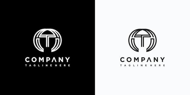 Design de logotipo da letra t vetor premium