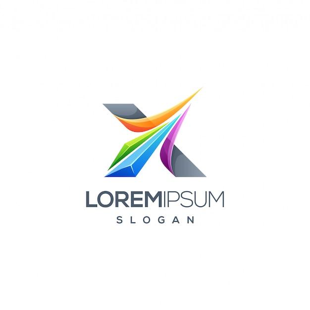 Design de logotipo da letra x