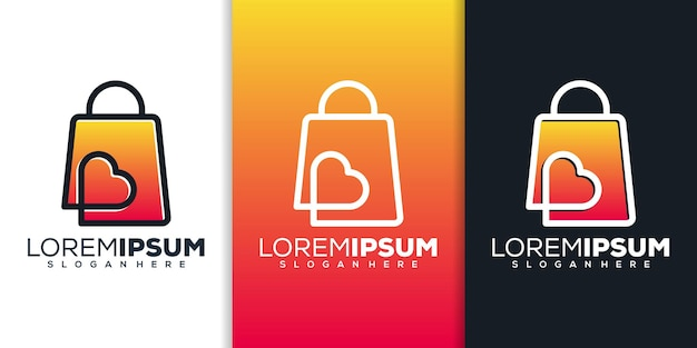 Design de logotipo da loja de amor