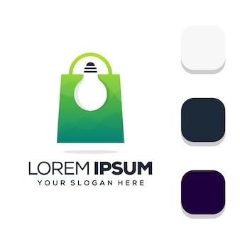 Design de logotipo da loja de lâmpadas