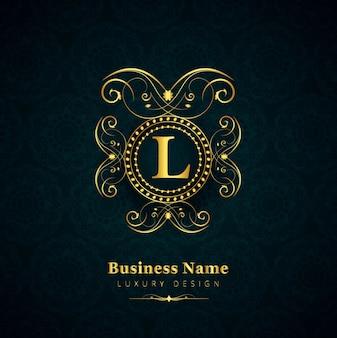 Design de logotipo da marca de luxo