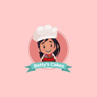 Design de logotipo da mascote indiana bettys cakes