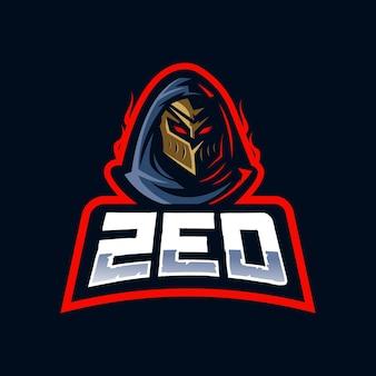 Design de logotipo da mascote zed e-sport
