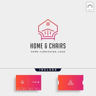 Design de logotipo da mobília