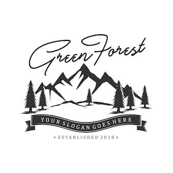 Design de logotipo da montanha