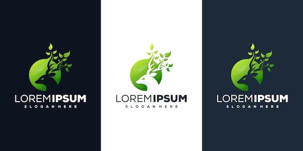 Design de logotipo da natureza veado