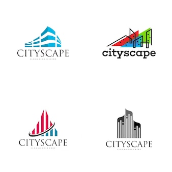 Design de logotipo da paisagem urbana