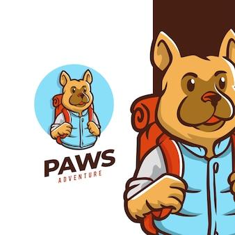 Design de logotipo da paws adventure