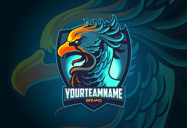 Design de logotipo da phoenix esports