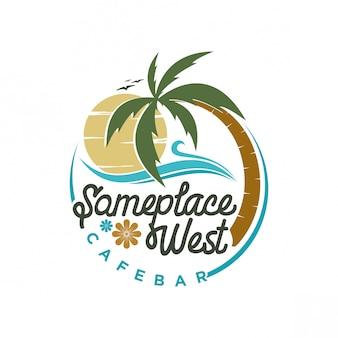 Design de logotipo da praia