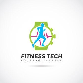Design de logotipo da tecnologia fitness