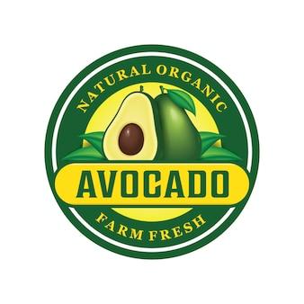 Design de logotipo de abacate