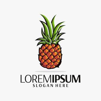 Design de logotipo de abacaxi