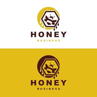 Design de logotipo de abelha mel