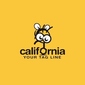Design de logotipo de abelha