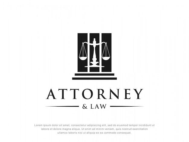 Design de logotipo de advogado e direito