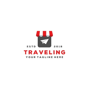 Design de logotipo de agente de viagens criativo