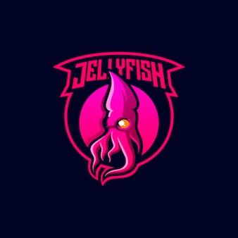 Design de logotipo de água-viva