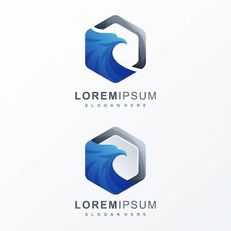 Design de logotipo de águia pronto para uso