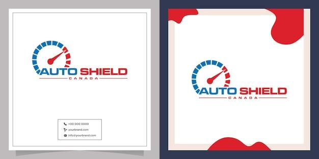 Design de logotipo de agulha de velocidade automotiva
