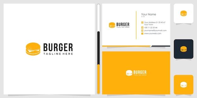 Design de logotipo de alimentos e modelo de cartão de visita