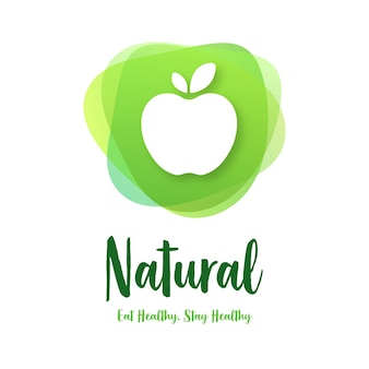 Design de logotipo de alimentos orgânicos