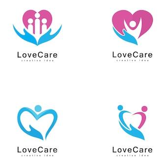 Design de logotipo de amor com as pessoas