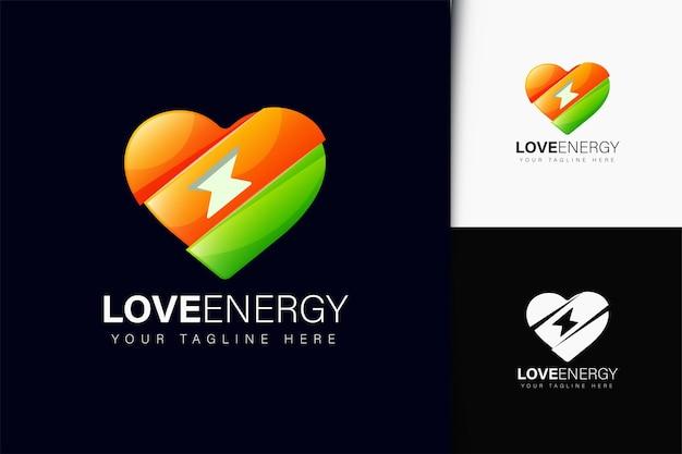 Design de logotipo de amor com gradiente