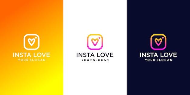 Design de logotipo de amor insta