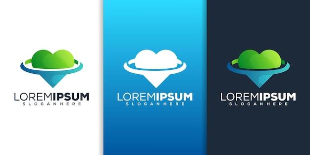 Design de logotipo de amor moderno