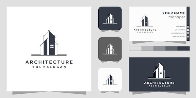 Design de logotipo de arquiteto de construção