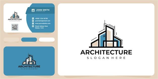 Design de logotipo de arquitetura. design de logotipo de arquitetura abstrata simples cor de luxo. inspiração do conceito de design de logotipo de arquitetura de construção