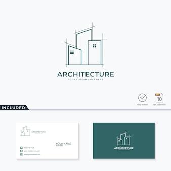 Design de logotipo de arquitetura