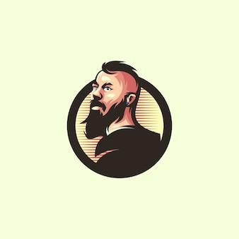 Design de logotipo de artista de homem