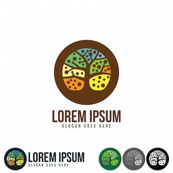 Design de logotipo de árvore vibrante abstrata