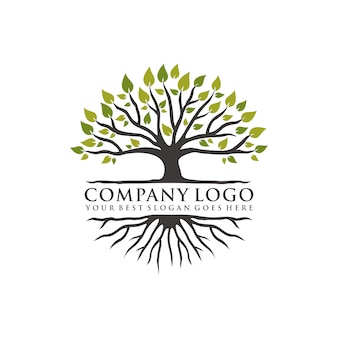 Design de logotipo de árvore